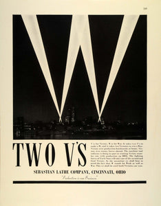 1942 Ad Sebastian Lathe WWII Victory Workforce Uncle Sam War Production FZ4