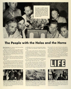 1942 Ad Life Magazine World War II Radio Broadcasting Margaret Bourke White FZ4