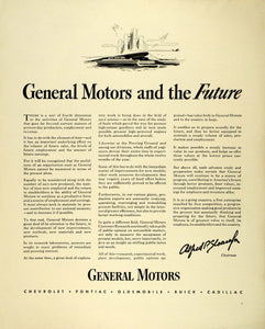 1941 Ad General Motors Production Products Power Engines Alfred Sloan FZ5