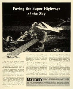 1941 Ad P R Mallory & Co Inc Indianapolis Airplane Mobile Battery Charger FZ5