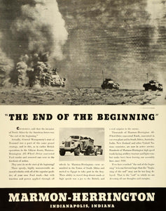 1943 Ad Marmon Herrington All Wheel Drive WWII War Production Military FZ5