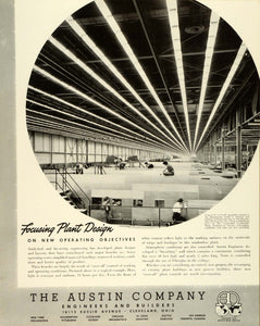 1943 Ad Austin Co Engineers & Builders Cleveland Ohio Douglas Aircraft Co FZ5