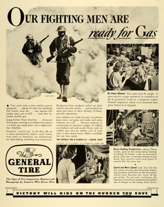 1942 Ad General Tire & Rubber Oxygen Masks Gas Production Line Workers Women FZ6
