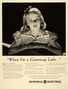 1942 Ad Utility General Electric Household Products Susan Girl When I Grow FZ6