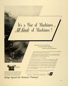 1942 Ad Underwood Elliott Fisher Business Equipment Machines WWII War FZ6