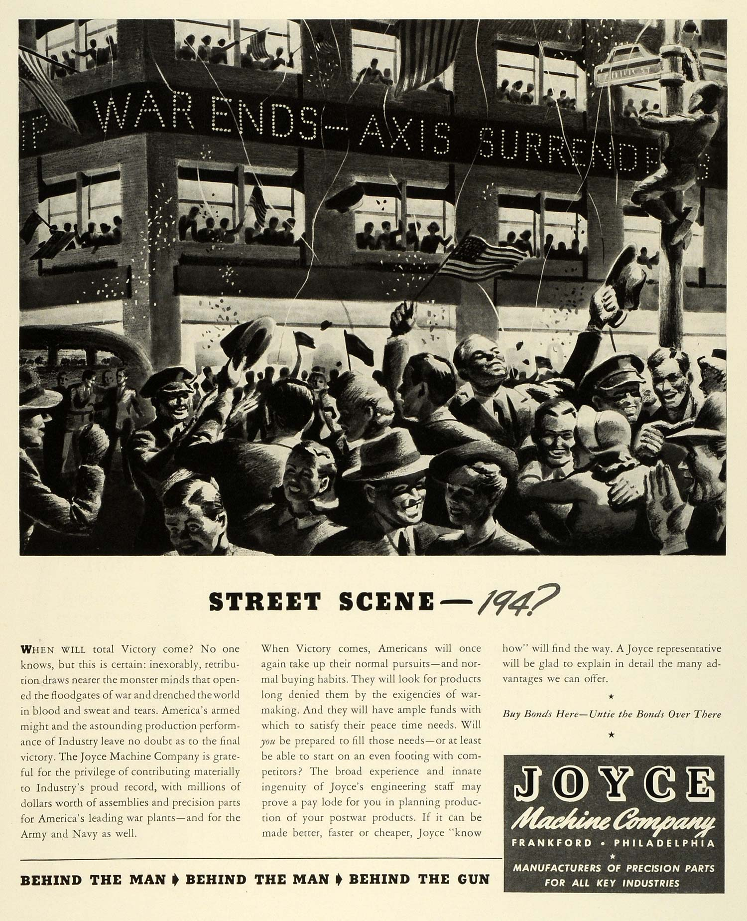 1943 Ad Joyce Machine WWII War Production Plants Industrial Manufacturing FZ6