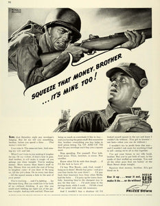 1944 Ad Magazine Publishers America War Bonds Advertising Soldier FZ6