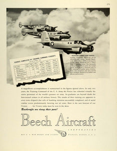 1944 Ad Beech Aircraft Corp Beechcraft Bomber Crew Trainers AT-7 A Squadron FZ6