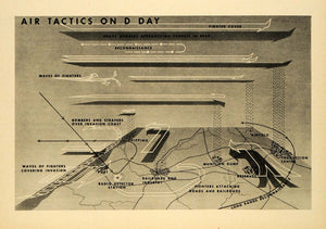 1944 Print D Day Air Tactic Munition Airfield Reconnaissance Bombers FZ7