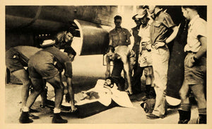 1943 Print Wounded Pilot Bomb Bay Plane New Guinea Hospital Medical World FZ7