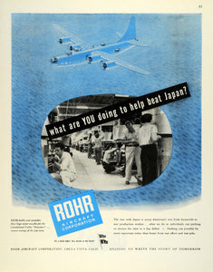 1945 Ad Rohr Military Aircraft WWII War Production Defeat Japanese Air Force FZ8
