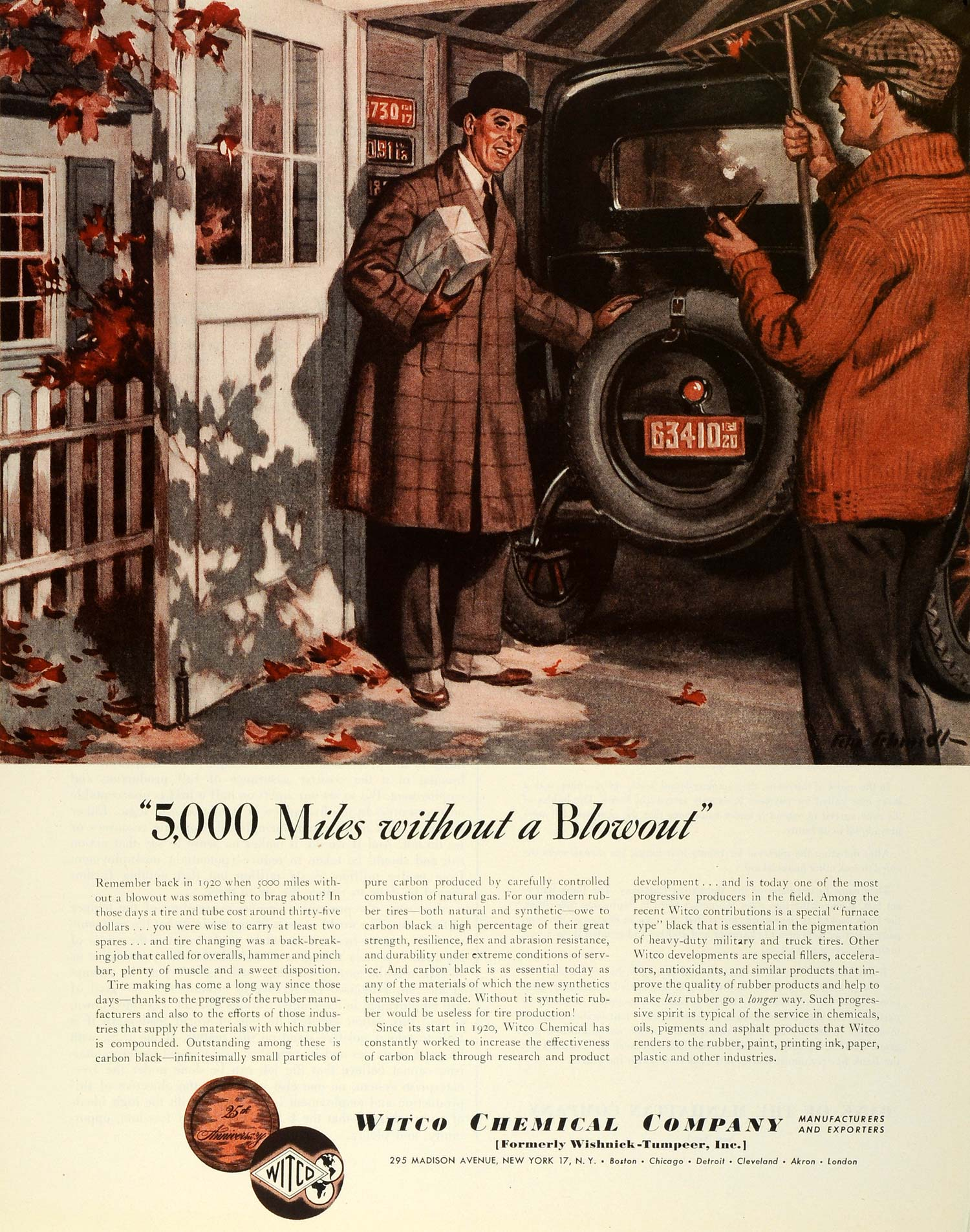 1945 Ad Witco Chemical Products Logo Vintage Car Harrow Leaf Tools ...