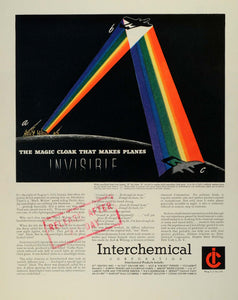 1945 Ad Interchemical Corp Searchlight Beam Chemical Material Printing Inks FZ8