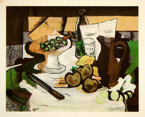 1949 Photolithograph Georges Braque Nature Morte Still Life Fruit Abstract GBL1