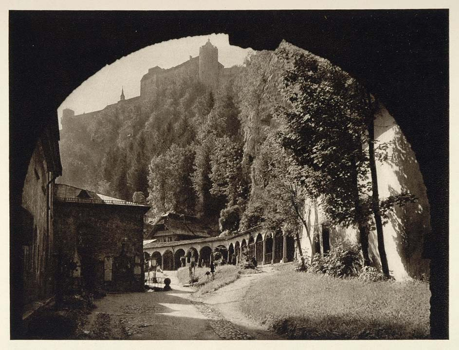 1928 St. Peter's Abbey Church Cemetery Salzburg Austria - ORIGINAL GER1