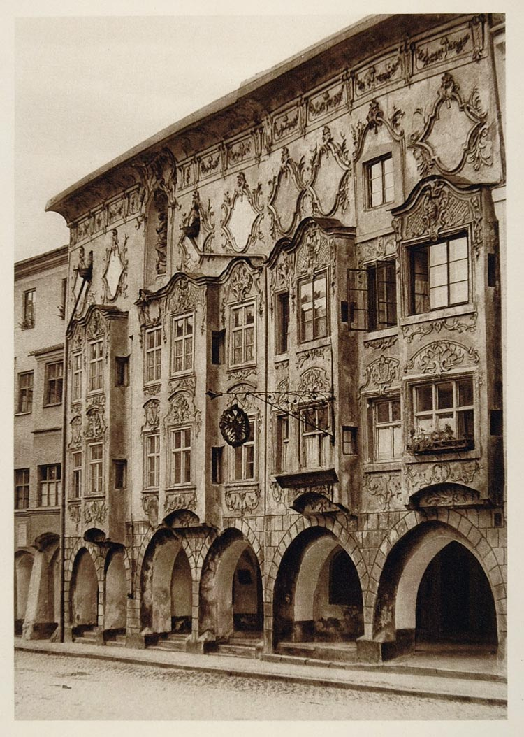 Wasserburg Am Inn Germania 1925 weinhaus wasserburg am inn germany kurt hielscher - original ger2