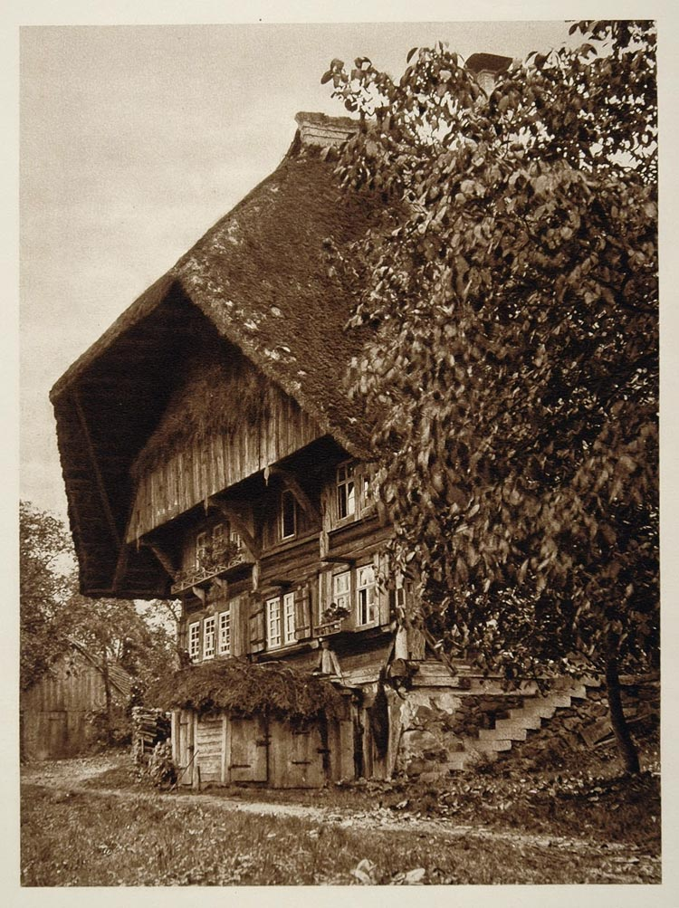 1925 Black Forest House Gutachtal Schwarzwald Germany - ORIGINAL GER2