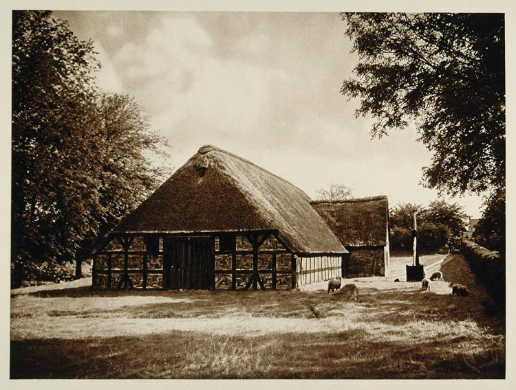 1925 Ostenfelder Bauernhaus Farmhouse Husem Germany - ORIGINAL PHOTOGRAVURE GER2