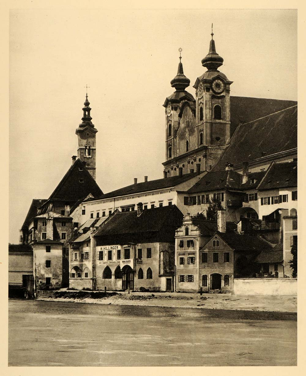 1934 Steyr Enns Austria Baroque St Michael's Church - ORIGINAL PHOTOGRAVURE GER4