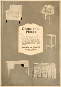 1918 Ad Smith Jones Furniture Chair Desk Side Table - ORIGINAL ADVERTISING GF1