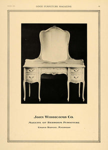 1919 Ad John Widdicomb Bedroom Furniture Wood Dresser - ORIGINAL ADVERTISING GF1