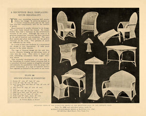 1919 Print Sons-Cunningham Reed Rattan Wicker Furniture ORIGINAL HISTORIC GF1