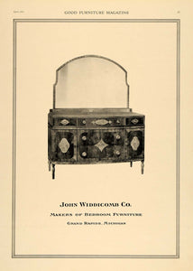 1919 Ad John Widdicomb Bedroom Furnitures Inlay Dresser - ORIGINAL GF1