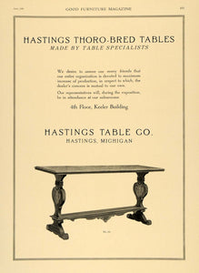 1920 Ad Hastings Table Furniture Interior Design Decor - ORIGINAL GF1
