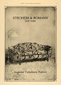 1920 Ad Stroheim Romann Upholstery Textile Fabric Sofa Home Decor Couch New GF1