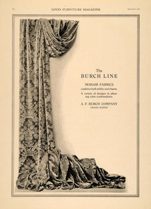 1919 Ad A. F. Burch Line Mohair Fabrics Grand Rapids - ORIGINAL ADVERTISING GF2