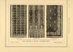 1919 Ad Quaker Lace Richelieu Sectional Amerex Weave - ORIGINAL ADVERTISING GF2