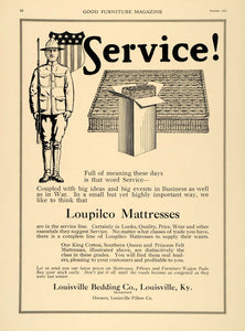 1918 Ad Louisville Bedding Pillow Loupilco Mattress WWI - ORIGINAL GF2