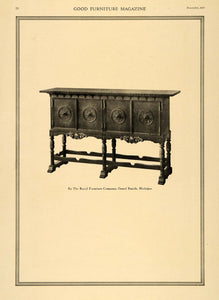 1919 Print Royal Furniture Tall Wooden Hallway Cabinet ORIGINAL HISTORIC GF2
