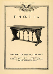 1919 Ad Phoenix Furniture Wooden Finished Side Table - ORIGINAL ADVERTISING GF2