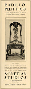 1919 Ad Radillo-Pelitii Venetian Studio Furniture Chair - ORIGINAL GF2