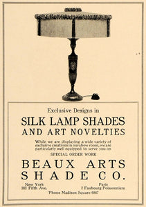 1918 Ad Beaux Arts Shade Co. Silk Lamp Home Decoration - ORIGINAL GF2
