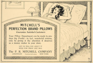 1918 Ad P R Mitchell Co. Bedroom Bed Decor Pillows - ORIGINAL ADVERTISING GF2