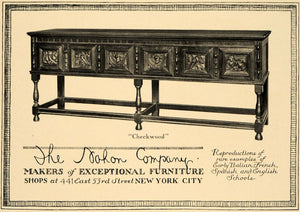 1919 Ad Nahon Co. Early Italian Checkwood Console Decor - ORIGINAL GF2
