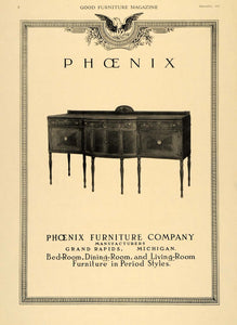 1918 Ad Sideboard Buffet Table Phoenix Furniture Co. - ORIGINAL ADVERTISING GF3