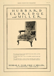 1919 Ad Fabric Chairs Hubbard Eldredge Miller Furniture - ORIGINAL GF3