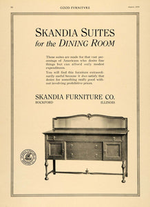 1916 Ad Skandia Furniture Dining Room Buffet Table - ORIGINAL ADVERTISING GF3