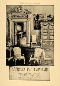 1921 Ad John Miller Appreciative Furniture Bookcase - ORIGINAL ADVERTISING GF4