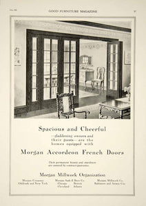 1920 Ad Vintage Morgan Accordion French Doors Home House Interior Design GF5