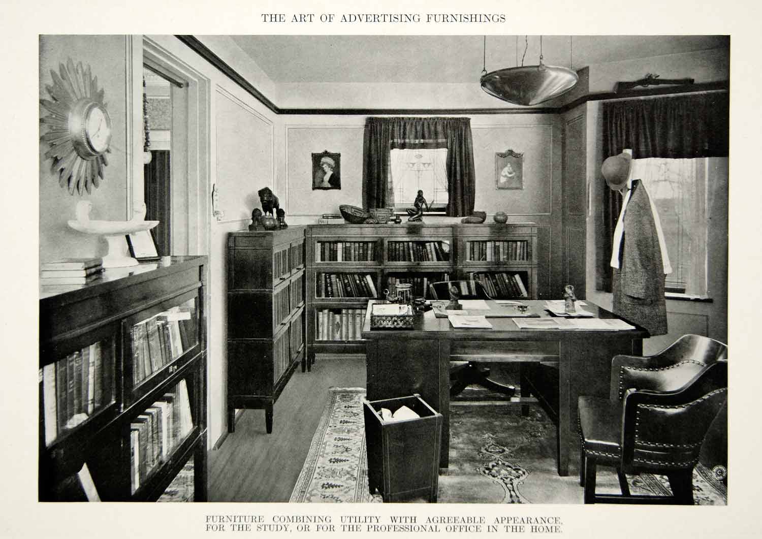 1916 Print Antique Home Office Furniture Bookcase Desk Chair Interior on home library with ladder, home office furniture ideas, home office desk with drawers, home office furniture design, girls loft bunk beds with desk, home office bookcase with ladder, home office desk furniture wood, home office wall units with desk,