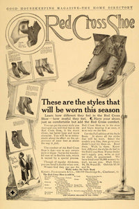 1910 Ad Red Cross Shoe Styles Krohn Fechheimer Company - ORIGINAL GH2