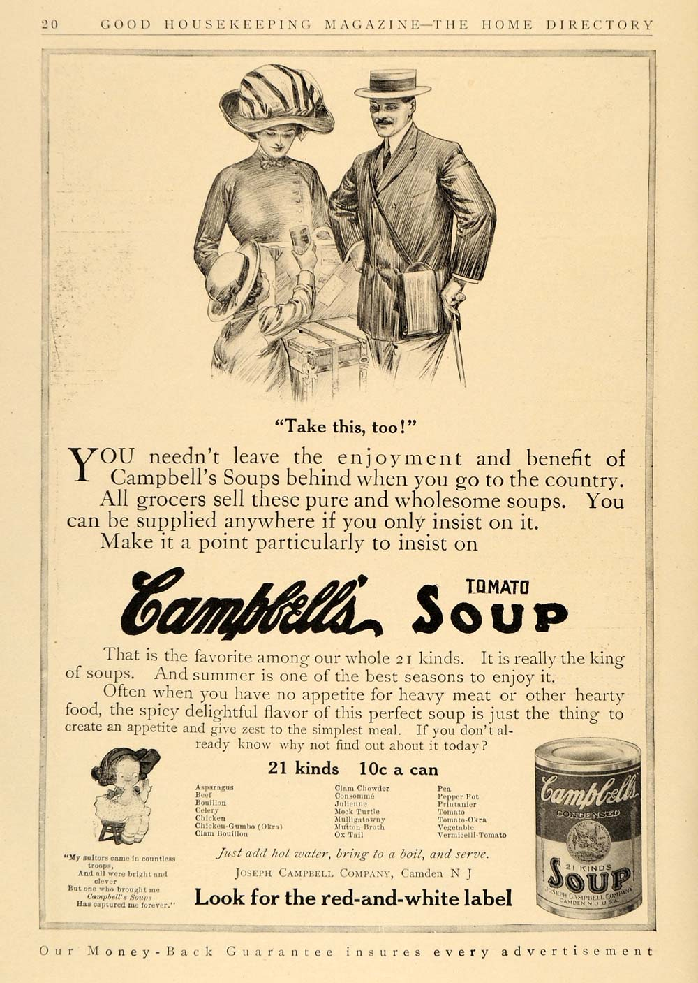1911 Ad Joseph Campbell Canned Tomato Soup Camden NJ - ORIGINAL ADVERTISING GH2