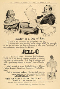 1912 Ad Genesee Pure Food Jell-O Dessert Gelatin Child - ORIGINAL GH2