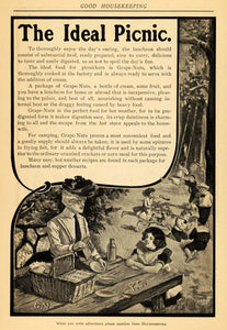 1902 Ad Ideal Children's Picnic Grape-Nuts Cereal - ORIGINAL ADVERTISING GH2