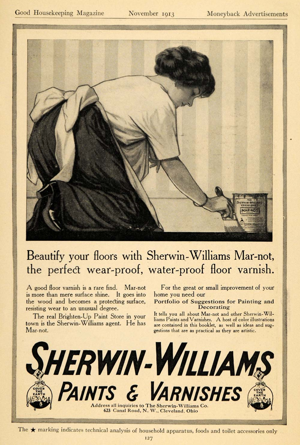 1913 Ad Sherwin-Williams Paints   Varnishes Housewife - ORIGINAL ADVERTISING  GH3 407a95756f86