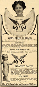 1911 Ad Omo Manufacturing Co. Infant Pant Bib Accessory - ORIGINAL GH3